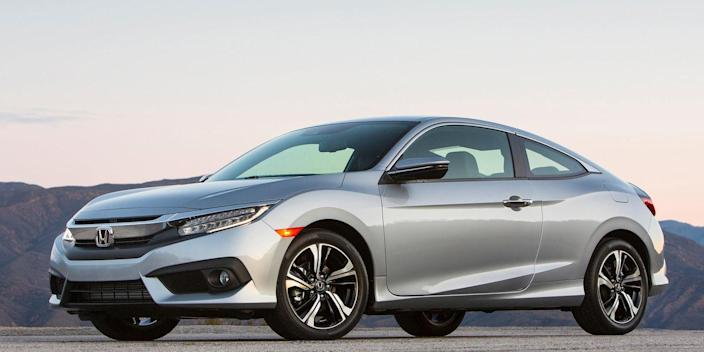 "<p>Yep, the Honda Civic Coupe is actually quicker than the Hatchback, <a href=""http://www.roadandtrack.com/new-cars/news/a32726/new-2017-ford-fiesta-st/"" rel=""nofollow noopener"" target=""_blank"" data-ylk=""slk:hitting 60 mph in just 6.6 seconds"" class=""link rapid-noclick-resp"">hitting 60 mph in just 6.6 seconds</a>. Credit the Civic Coupe's lighter weight. You can get the Civic Coupe with a manual, but expect slower acceleration than the automatic. Trust us, you won't care because the manual is so much more engaging,</p>"