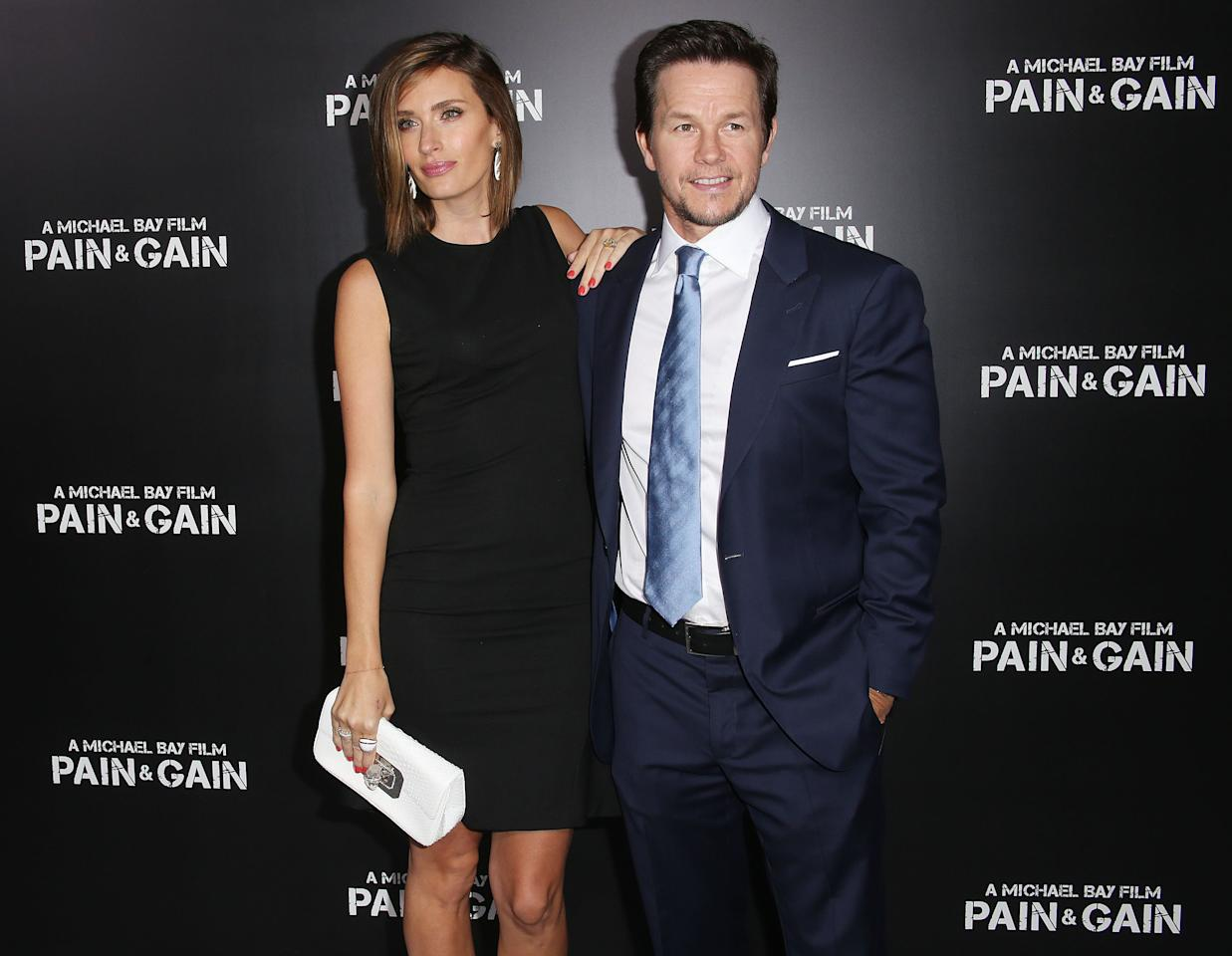 "HOLLYWOOD, CA - APRIL 22: Rhea Durham (L) and actor Mark Wahlberg attend the premiere of Paramount Pictures' ""Pain & Gain"" at the TCL Chinese Theatre on April 22, 2013 in Hollywood, California.  (Photo by Frederick M. Brown/Getty Images)"