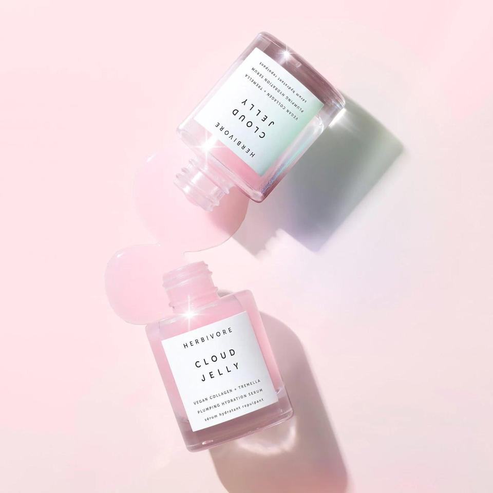 <p>To us, summer skin looks hydrated and bouncy. That's why we're so excited to try this new <span>Herbivore Cloud Jelly Plumping Hydration Serum</span> ($48).</p>