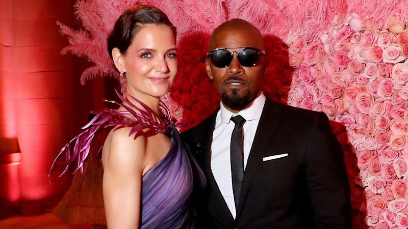 Katie Holmes steps out after Jamie Foxx breakup in heeled flip-flops