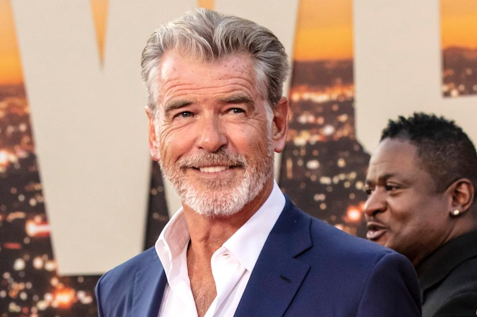 "Pierce Brosnan attends The Los Angeles Premiere Of ""Once Upon a Time in Hollywood"" held at TCL Chinese Theatre in July 2019"