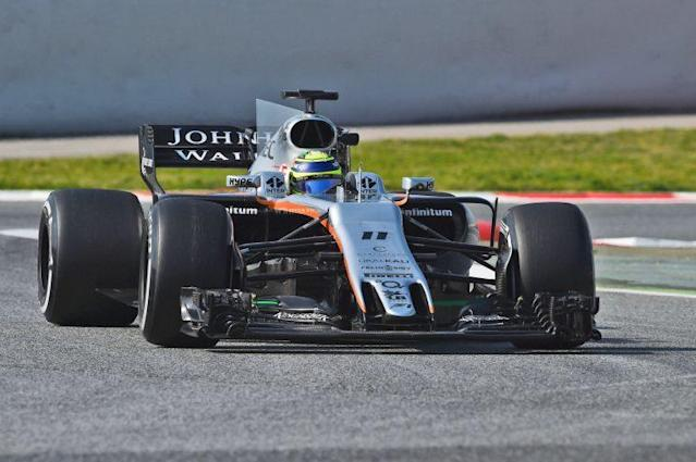 Rub of the rubber: Sergio Perez can make tyres last an inordinate time – but whether that will help in 2017 remains to be seen