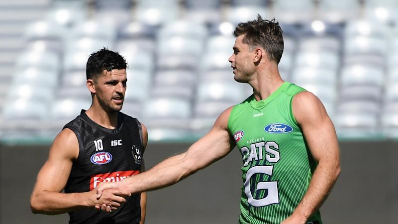 AFL MAGPIES CATS TRAINING