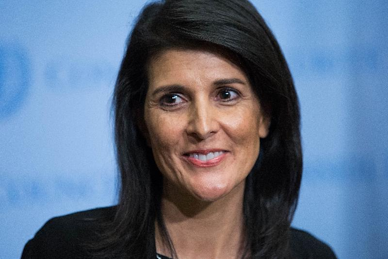 US Permanent Representative to the United Nations Ambassador Nikki Haley wants to schedule the human rights debate for April 18, but the council adopted a program of work for the month without putting it on the agenda