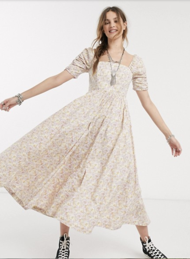 Free People She's A Dream Floral Maxi Dress