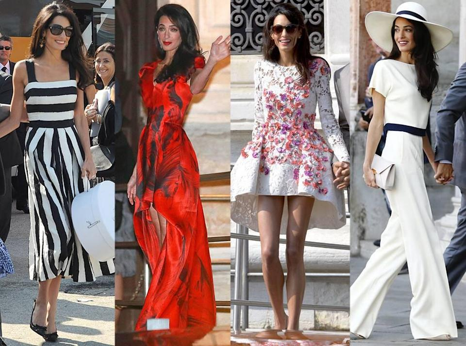 George Clooney, Wedding Outfits