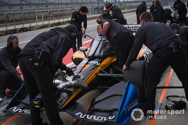 """Knowing what changes to ask for in order to optimize the car is one of the areas where only experience – and Wickens – can help. <span class=""""copyright"""">Michael L. Levitt / Motorsport Images</span>"""