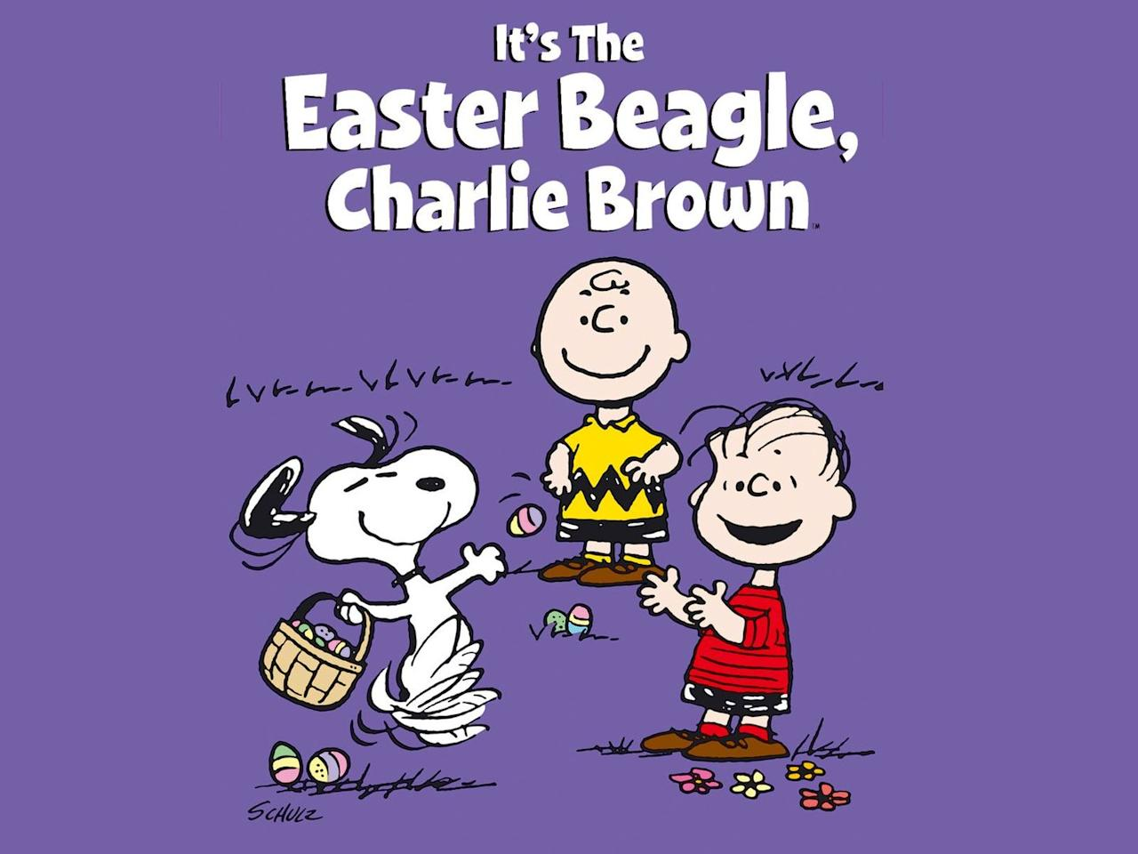 """<p>Who doesn't love a holiday story brought to you by the Peanuts gang? This Easter classic centers around your favorite characters including Snoopy and Charlie Brown. </p><p><a class=""""body-btn-link"""" href=""""https://www.amazon.com/Its-Easter-Beagle-Charlie-Brown/dp/B00007LP8I?tag=syn-yahoo-20&ascsubtag=%5Bartid%7C10070.g.16643651%5Bsrc%7Cyahoo-us"""" target=""""_blank"""">WATCH NOW</a></p>"""