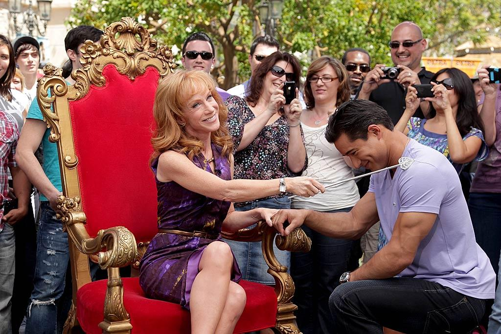 """""""Dreams do come true,"""" tweeted Kathy. """"I just knighted @mariolopezextra. I mean, if u like unattractive men."""" Noel Vasquez/<a href=""""http://www.gettyimages.com/"""" target=""""new"""">GettyImages.com</a> - April 25, 2011"""