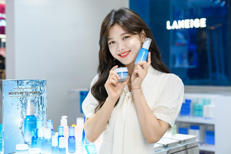 Korean actress and Laneige brand model Kim Yoo Jung makes a