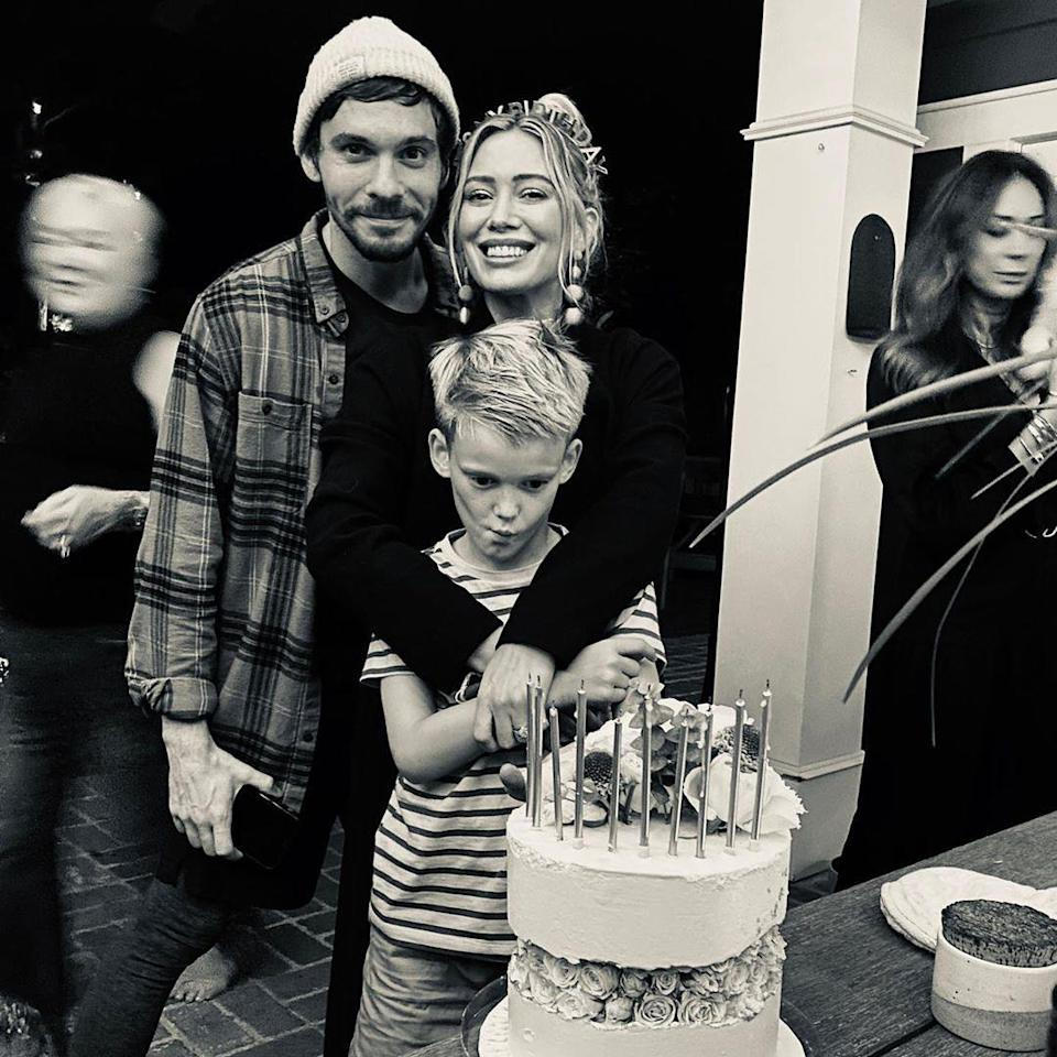 """<p>In honor of Luca's 8th birthday, Koma <a href=""""https://www.instagram.com/p/B99Rsu_hf8a/"""" rel=""""nofollow noopener"""" target=""""_blank"""" data-ylk=""""slk:posted a sweet tribute to his stepson on Instagram"""" class=""""link rapid-noclick-resp"""">posted a sweet tribute to his stepson on Instagram</a>. Koma wrote, """"It's this little dude's 8th birthday today and I couldn't be more proud + honored to watch him become the little man, son, brother and role model he is. Some of the perspective this kid brings into our world is actually mind blowing. We have each other's backs so hard and I've learned more from him than he'll ever realize.""""</p> <p>He added, """"Thank you Luca, for letting me walk you into school, for <a href=""""https://people.com/parents/hilary-duff-kids-initials-wedding-gown/"""" rel=""""nofollow noopener"""" target=""""_blank"""" data-ylk=""""slk:walking me down the aisle"""" class=""""link rapid-noclick-resp"""">walking me down the aisle</a>, reigniting the kid in me, singing my songs with me, looking out for my dairy allergy, teaching me every good iPad game, watching Frozen with your sister every morning, letting mom think you break things when I really do, and for just simply being you. We'll always, always be the 'sweet team.'""""</p>"""