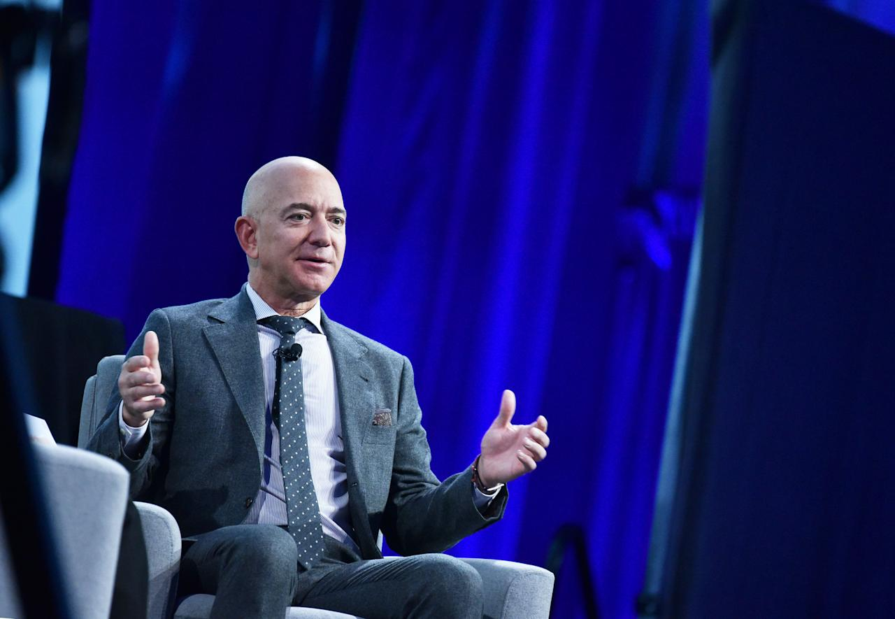 While Bezos was in high school, he worked at McDonald's as a short-order line cook during the breakfast shift. He attended the Student Science Training Program at the University of Florida. He was high school valedictorian, a National Merit Scholar, and a Silver Knight Award winner in 1982.