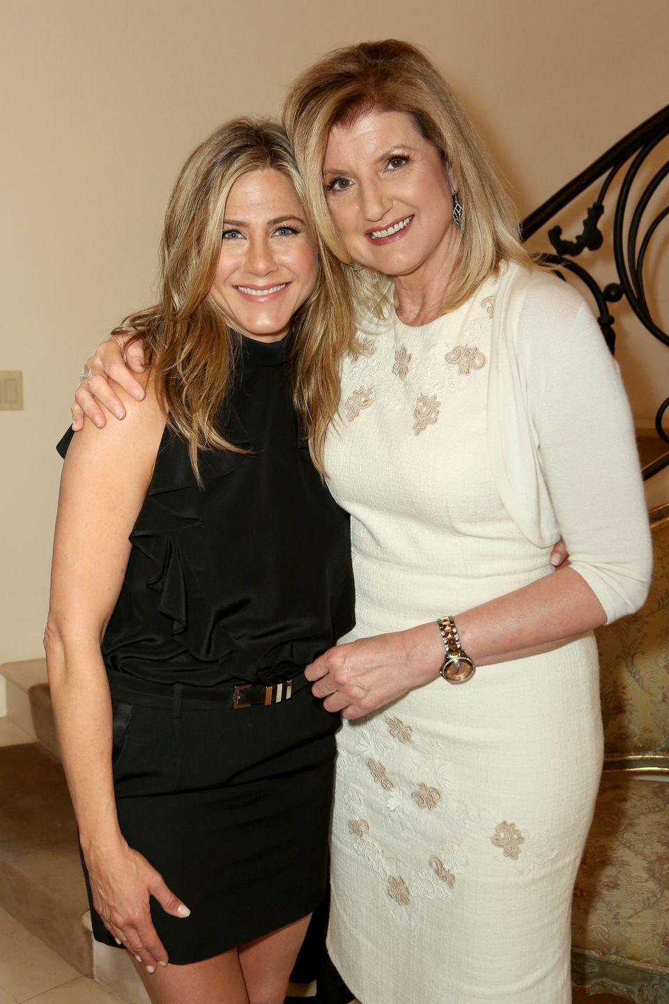 <p>In 2015, author Arianna Huffington celebrated Jen's success in the film <em>Cake</em>. The movie put Jen in a more dramatic role, and it paid off. She earned Golden Globe and SAG Award nominations for the role.<br></p>