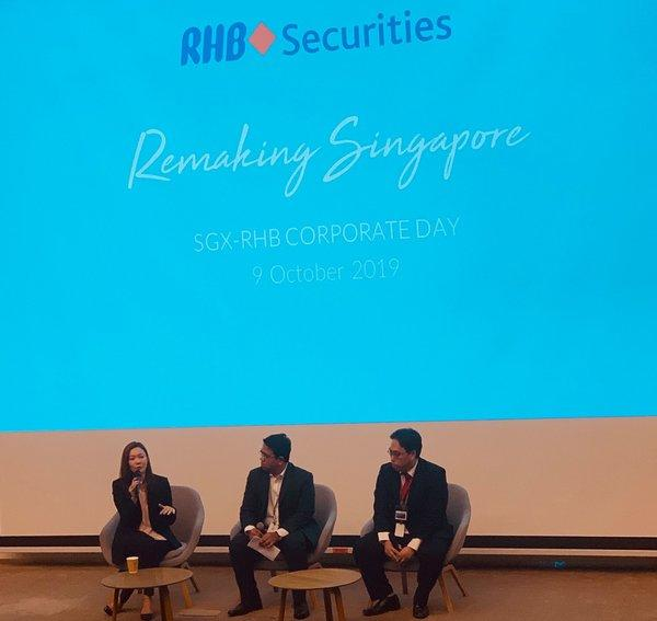 (left to right) Melissa Ow, Deputy Chief Executive of Singapore Tourism Board, Shekhar Jaiswal Head of Equity Research at RHB Securities Singapore and Dr. Lee Nai Jia, Senior Director & Head, Research of Knight Frank sharing their views on Singapore's tourism and real estate plans.