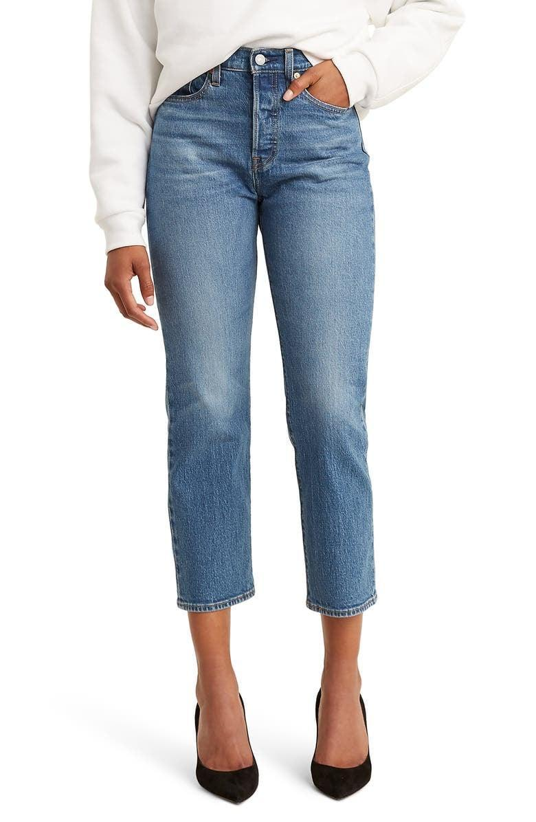 <p>Casual Fridays are a thing of the past for most, and you definitely need a good pair of denim for work. The <span>Levi's Wedgie High Waist Crop Straight Leg Jeans</span> ($98) are a classic pair you just can't go wrong with. From blazers and sweaters to sneakers and heels, these are always a good idea.</p>