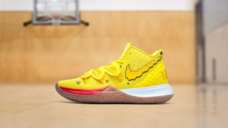 "5013dee96c4c5 Kyrie Irving Unveiled His ""SpongeBob SquarePants"" Line of Nike Sneakers"