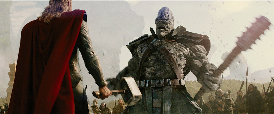 Thor confronts a Kronan in <i>Dark World</i>. (Photo: Marvel Studios)