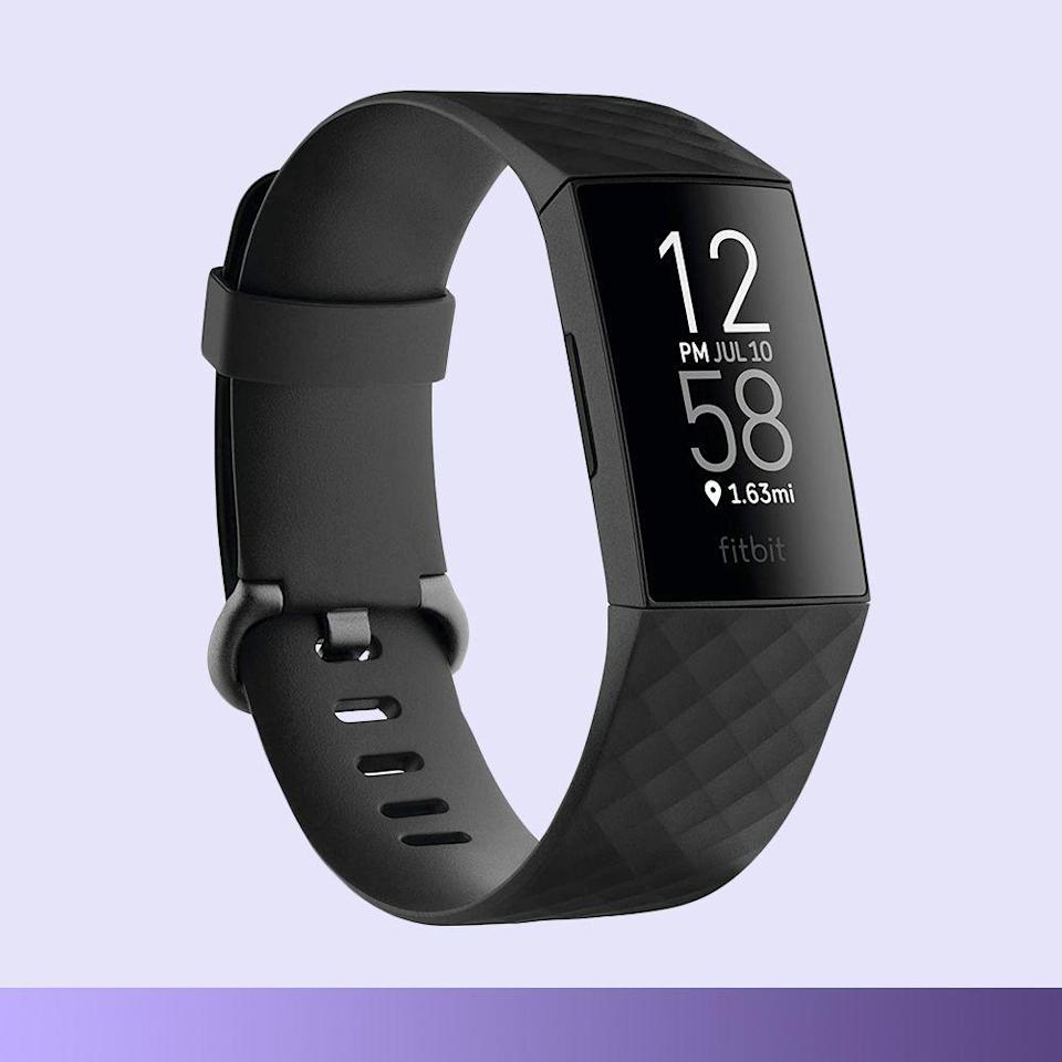 """<p><strong>Fitbit</strong></p><p>amazon.com</p><p><strong>$129.95</strong></p><p><a href=""""https://www.amazon.com/dp/B084CQ41M2?tag=syn-yahoo-20&ascsubtag=%5Bartid%7C2089.g.376%5Bsrc%7Cyahoo-us"""" rel=""""nofollow noopener"""" target=""""_blank"""" data-ylk=""""slk:Shop Now"""" class=""""link rapid-noclick-resp"""">Shop Now</a></p><p>The Fitbit Charge 4 is a fitness tracker that monitors their physical activity, heart rate and sleep on an intuitive touchscreen display. <br></p><p>It's a great option for those who don't need all of the bells and whistles of an Apple Watch, but like the tracking capabilities, music connectivity, and short-distance texting and calling features that help them stay just the right amount of connected.</p>"""