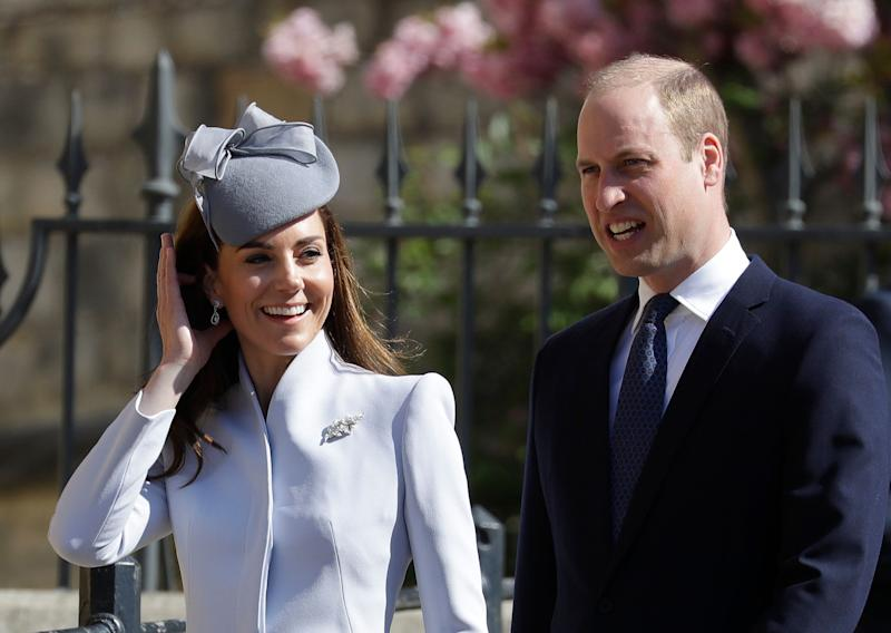 Kate and William at the Easter Sunday service at St George' Chapel in Windsor [Photo: PA]