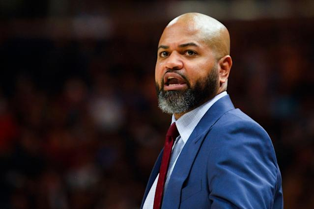 """J.B. Bickerstaff will reportedly join the <a class=""""link rapid-noclick-resp"""" href=""""/nba/teams/cleveland/"""" data-ylk=""""slk:Cavaliers"""">Cavaliers</a> coaching staff. (AP)"""