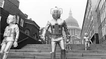 """<p>Episodes 1 and 5 of this eight-part story – which sees the Cybermen invade Earth and stalk the steps of St Paul's Cathedral – are missing. But animated versions appear alongside the surviving episodes on <a href=""""https://www.amazon.co.uk/Doctor-Who-Invasion-Disc-Set/dp/B000GH2VOK/"""" rel=""""nofollow noopener"""" target=""""_blank"""" data-ylk=""""slk:the 2006 DVD release"""" class=""""link rapid-noclick-resp"""">the 2006 DVD release</a> of 'The Invasion'.</p>"""