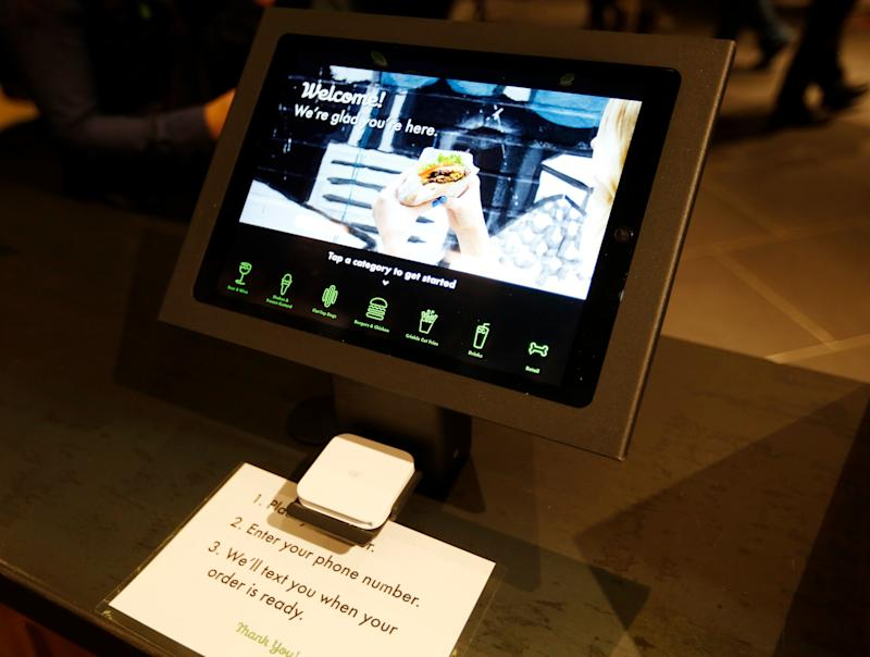 PALO ALTO, CA - DECEMBER 12: A kiosk at Shake Shack at the Stanford Shopping Center in Palo Alto, Calif., on Wednesday, Dec. 12, 2018. (Nhat V. Meyer/Digital First Media/The Mercury News via Getty Images)