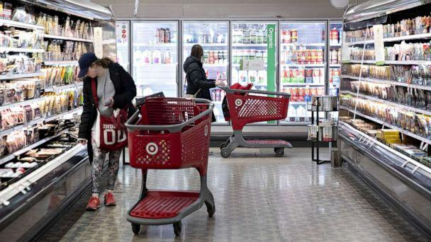 PHOTO: Customers shop in the grocery area at a Target Corp. store in Chicago, Nov. 16, 2019. (Bloomberg via Getty Images, FILE)