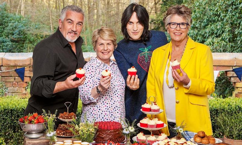 The new Bake-off team at Channel 4: Paul Hollywood, Sandi Toksvig, Noel Fielding and Prue Leith
