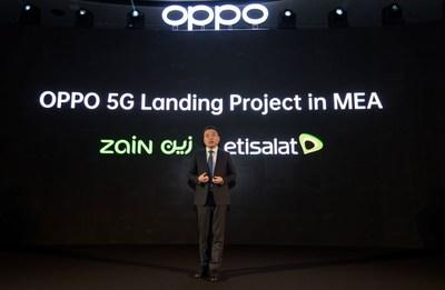 OPPO 5G Landing Project in MEA announced by Andy Shi, President, MEA, OPPO (PRNewsfoto/OPPO)