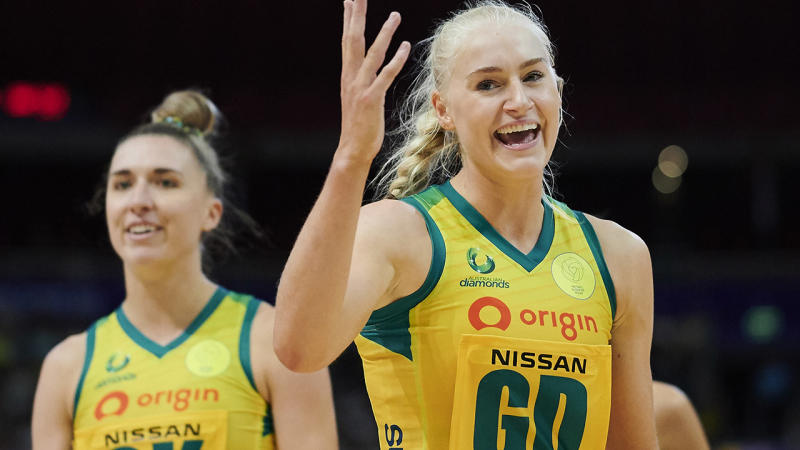 Jo Weston, pictured here in action for the Australian Diamonds.