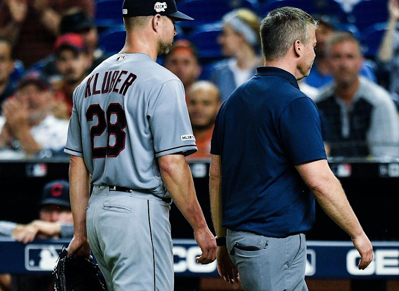 Cleveland looks vulnerable now that Corey Kluber is injured. (Getty Images)