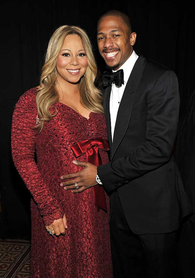 "<i>Star</i> magazine reports that Mariah Carey and Nick Cannon ""have spent close to $1 million"" preparing for their new son and daughter. According to the mag, Carey ""spent $150,000 alone on their wardrobe. She loves Baby Dior, Armani Junior's baby line, and Escada Baby."" Star says Carey's also hoarding custom-made cribs and strollers, and the parents-to-be even ""equipped the nursery with a $250,000 state-of-the-art Bose stereo system."" For more dirt on her outrageous spending for the twins, see what a Carey confidante tells <a href=""http://www.gossipcop.com/mariah-carey-babies-twins-nursery-clothes-stereo/"" target=""new"">Gossip Cop</a>. Kevin Mazur/<a href=""http://www.wireimage.com"" target=""new"">WireImage.com</a> - December 12, 2010"