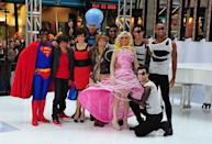 <p>The plaza was filled with celebrity and pop-star icons (or at least their look-a-likes were)! The <em>Today</em> team dressed up as TV stars and music legends like Superman (Al Roker), Justin Bieber (Natalie Morales), and Lady Gaga (Meredith Vieira). </p>