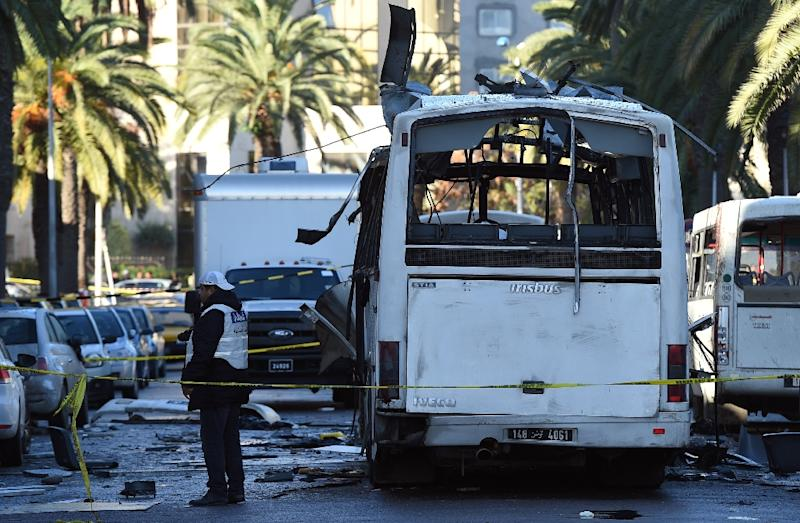 Tunisia's state of emergency was imposed in 2015 following a suicide bomb attack against a bus carrying presidential guards (AFP Photo/FETHI BELAID)