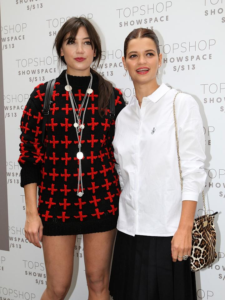 LONDON, ENGLAND - SEPTEMBER 16:  Daisy Lowe and Pixie Geldof attends the front row for the Unique show on day 3 of London Fashion Week Spring/Summer 2013, at The Topshop Venue on September 16, 2012 in London, England.  (Photo by Danny Martindale/WireImage)