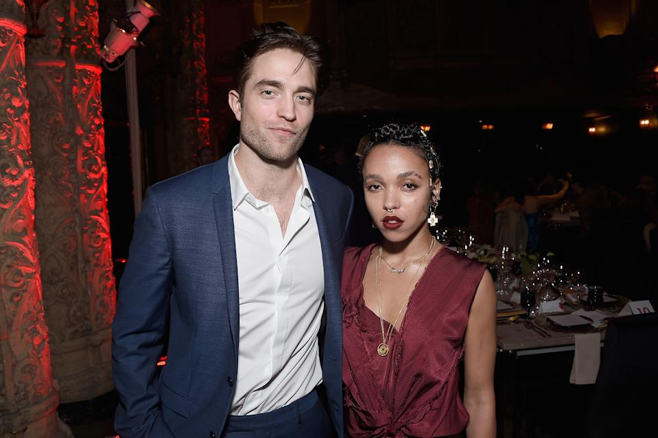 Robert Pattinson and FKA Twigs attend the L.A. Dance Annual Gala at The Theatre at Ace Hotel on December 10, 2016 in Los Angeles, California.  (Photo by Matt Winkelmeyer/Getty Images)
