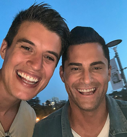 Former Bachelor contestants Bill Goldsmith and Jamie Doran were included in Bill's post. Photo: Instagram/bill.michael.goldsmith