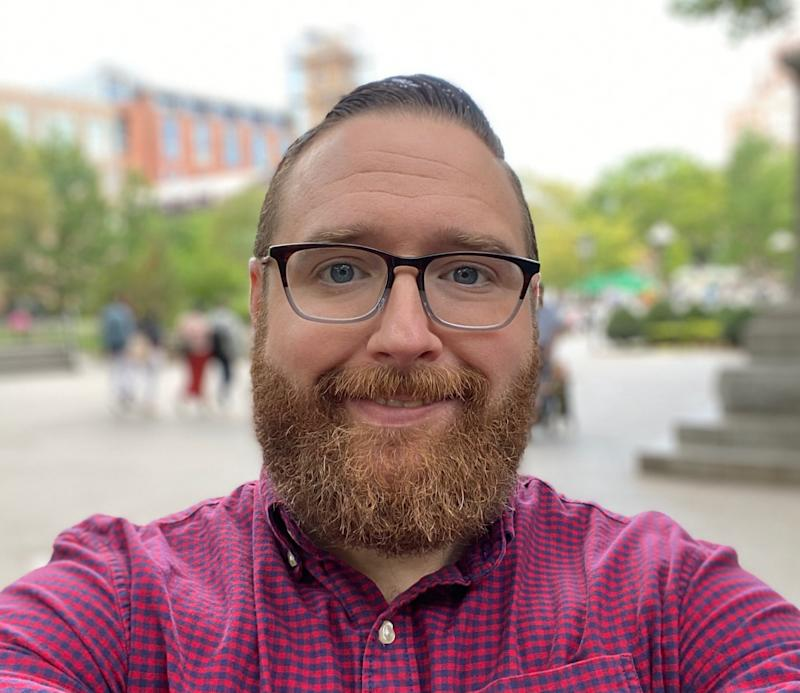 Take with the iPhone 11 Pro Max's selfie portrait mode.
