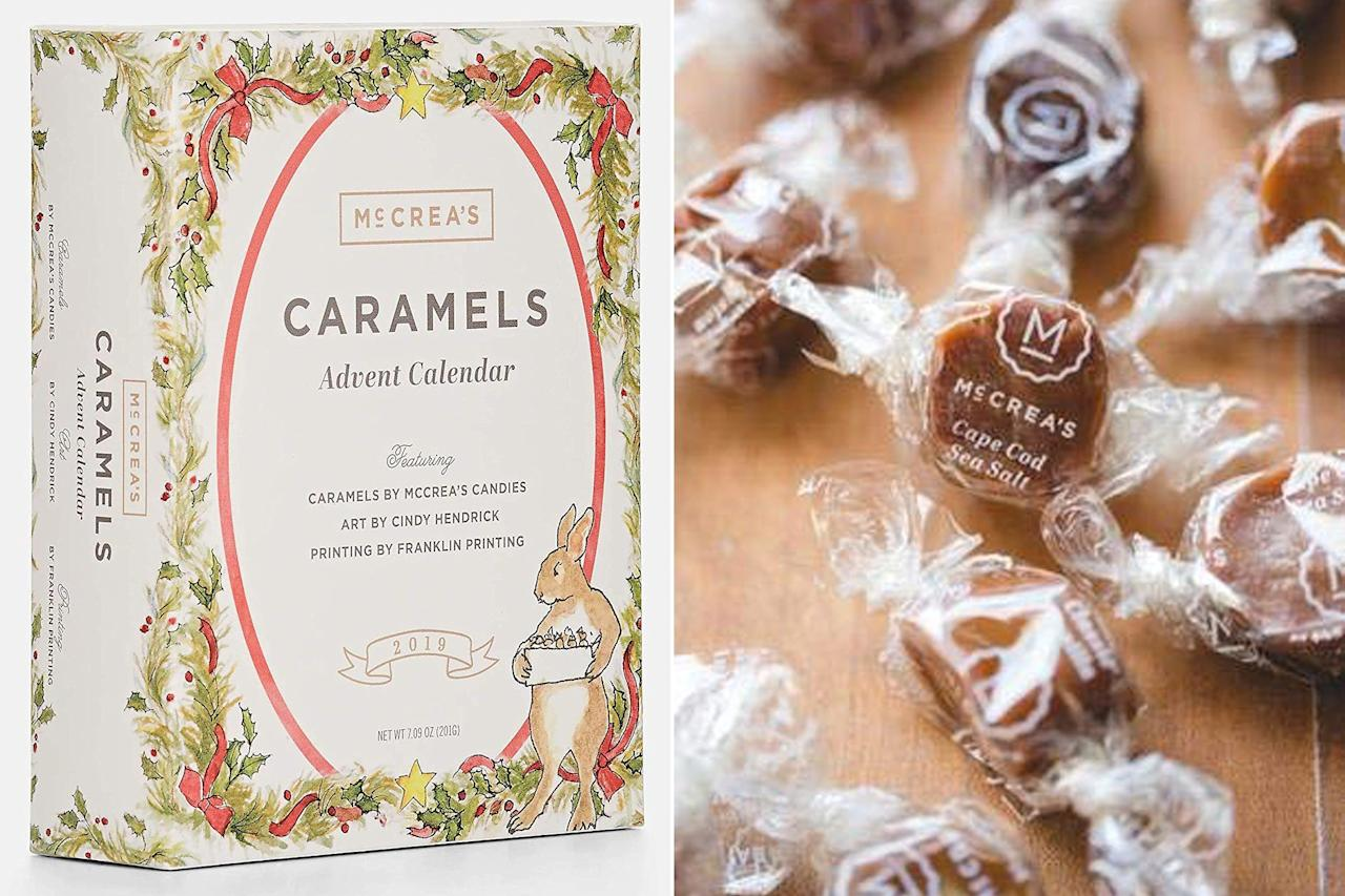 "Whether you prefer salted or sweet caramel, this advent is perfect for counting down the days until Christmas. The <a href=""https://www.amazon.com/McCreas-Candies-Calendar-featuring-Hendrick/dp/B07XKCYXL6/?ie=UTF8&camp=1789&creative=9325&linkCode=as2&creativeASIN=B07XKCYXL6&tag=people0d0-20&ascsubtag=b7924712a0e44b862523189ba042759c"" target=""_blank"" rel=""nofollow"">McCrea's Candies Caramel Advent Calendar</a> contains an assortment of 24 different treats in a dozen distinct flavors to be unwrapped and eaten...quickly.  <strong>Buy it!</strong> McCrea's Candies Caramel Advent Calendar, $38, <a href=""https://www.amazon.com/McCreas-Candies-Calendar-featuring-Hendrick/dp/B07XKCYXL6/ref=as_li_ss_tl?ie=UTF8&camp=1789&creative=9325&linkCode=as2&creativeASIN=B07XKCYXL6&tag=people0d0-20&ascsubtag=b7924712a0e44b862523189ba042759c"" target=""_blank"" rel=""nofollow"">amazon.com</a>"