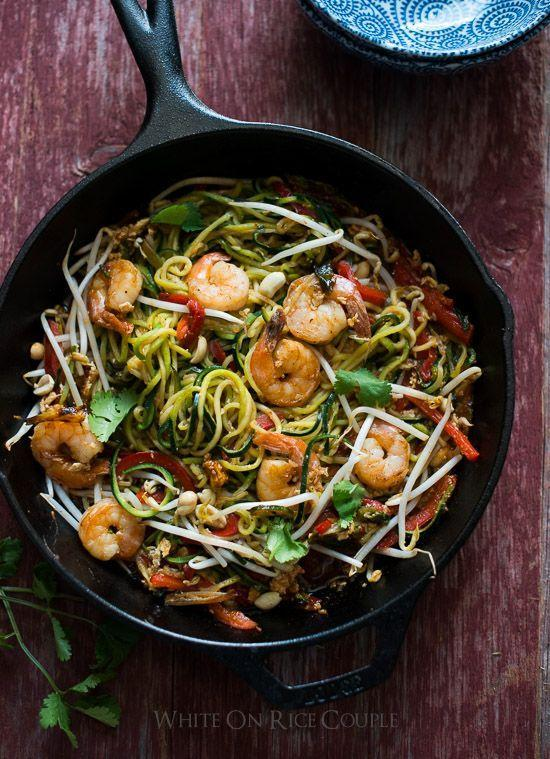 """<p>This dish will convert all your zoodle nonbeliever friends, and it might even convince you to get off the takeout train for good!</p><p><a href=""""http://kelleyandcricket.com/sticky-garlic-noodles-ans-famous-garlic-noodles-copycat-15-minutes-gluten-free/"""" rel=""""nofollow noopener"""" target=""""_blank"""" data-ylk=""""slk:Get the recipe from White on Rice Couple »"""" class=""""link rapid-noclick-resp""""><em>Get the recipe from White on Rice Couple »</em></a></p>"""
