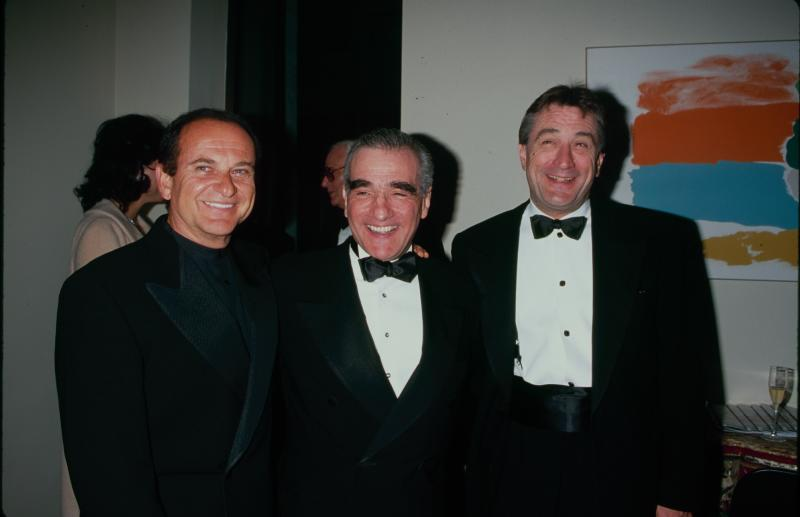 UNITED STATES - Joe Pesci, Robert De Niro, Martin Scorsese at a Film Society of Lincoln Center tribute to Martin Scorsese, New York City, 4th May 1998. (Photo by The LIFE Picture Collection via Getty Images/Getty Images)