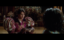 <p>When a couple in a romantic comedy finally gets together, often they leave behind dumped partners. In <em>Enchanted, </em>those rejected characters were Prince Edward (James Marsden) and Nancy Tremaine (Idina Menzel). Instead of wallowing, Prince Edward proposes in fairy-tale fashion—with a glass slipper—to Nancy and the two live happily ever after.</p>