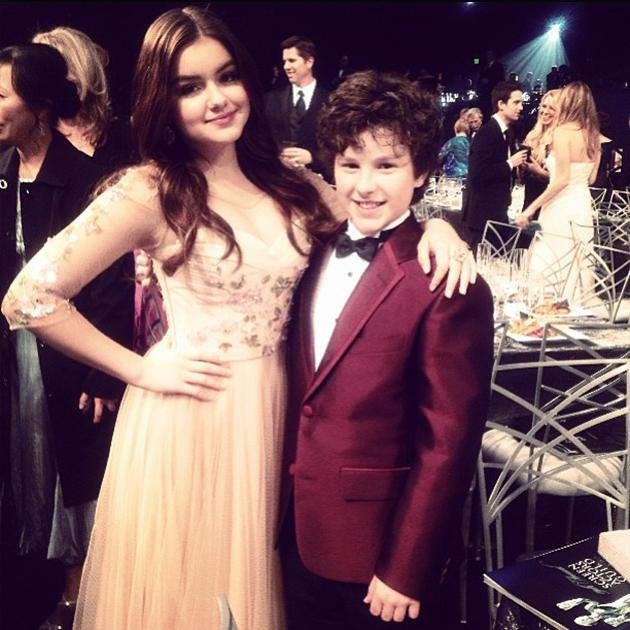 Love my fake little brother!!!! :) #sagawards2013 #fakebrother #saglove - @arielwinter1