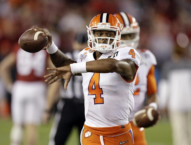 Clemson's Deshaun Watson could land in a fascinating situation with the Los Angeles Chargers. (AP)