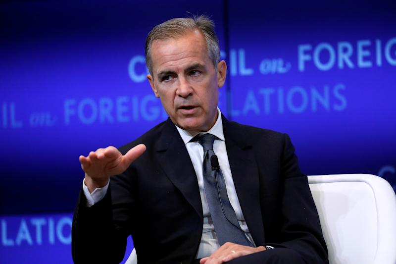 Mark Carney, Governor of the Bank of England (BOE) speaks at the Council on Foreign Relations in New York, U.S., September 10, 2019. REUTERS/Mike Segar