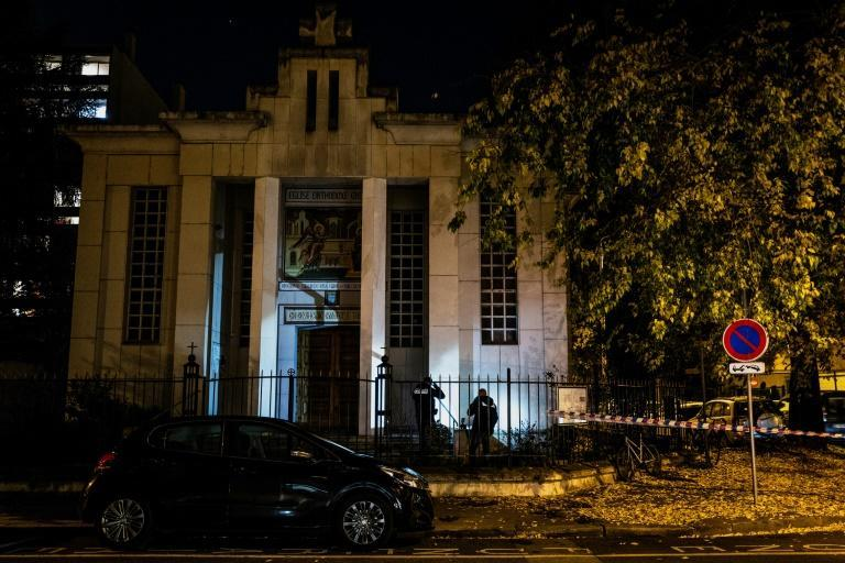 The priest was closing Greek Orthodox church in Lyon when he was shot