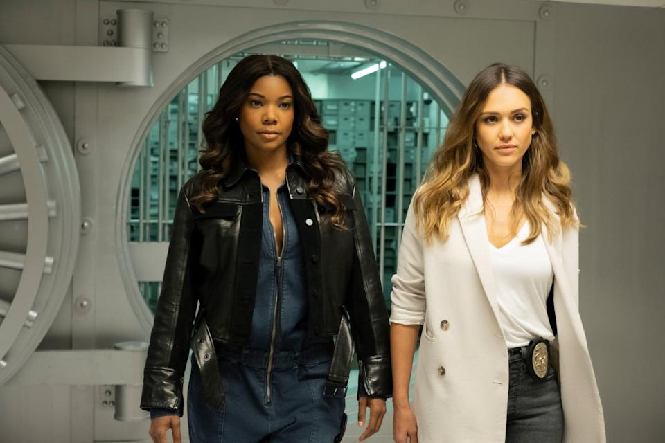 """<p>This show, a spinoff of the film <strong>Bad Boys</strong>, follows detective Sydney Burnett (played by <a class=""""link rapid-noclick-resp"""" href=""""https://www.popsugar.co.uk/Gabrielle-Union"""" rel=""""nofollow noopener"""" target=""""_blank"""" data-ylk=""""slk:Gabrielle Union"""">Gabrielle Union</a>), who holds a secret from her past, and her new partner, Nancy McKenna (played by <a class=""""link rapid-noclick-resp"""" href=""""https://www.popsugar.co.uk/Jessica-Alba"""" rel=""""nofollow noopener"""" target=""""_blank"""" data-ylk=""""slk:Jessica Alba"""">Jessica Alba</a>), who is balancing life as a working stepmother. The two must work together as they hunt down Los Angeles' criminals by all means possible.</p> <p>Watch <a href=""""https://www.netflix.com/title/80241180"""" class=""""link rapid-noclick-resp"""" rel=""""nofollow noopener"""" target=""""_blank"""" data-ylk=""""slk:L.A.'s Finest""""><strong>L.A.'s Finest</strong></a> on Netflix now.</p>"""