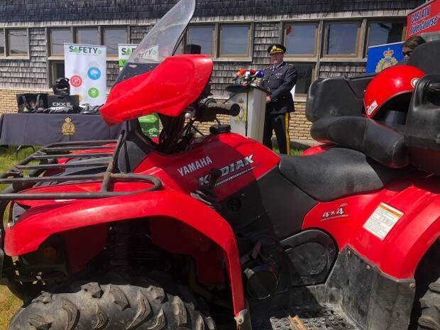 The RCMP launched Phase 2 of their ATV safety campaign in Newfoundland and Labrador on Thursday.  (Jeremy Eaton/CBC - image credit)