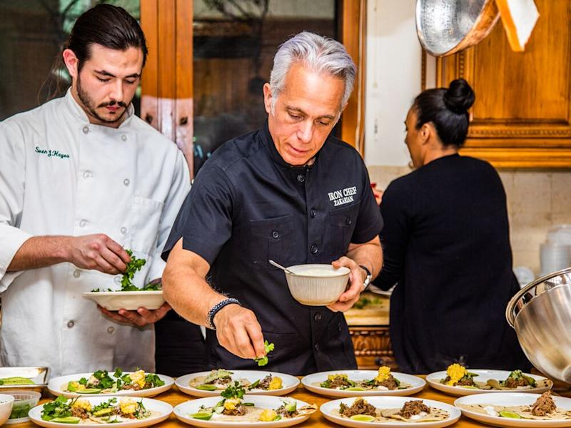 Chef Geoffrey Zakarian puts the finishing touches on his