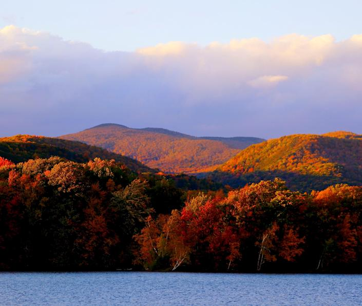 Mount Greylock presents a painter's palette of fall color